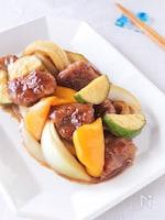 夏野菜が美味しい!黒酢酢豚