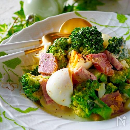 やみつきクリーミー*ゆで卵とブロッコリーのボリュームサラダ