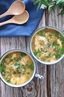 夏にピッタリ!めちゃ簡単でめちゃ旨♡ごまキムニラ玉スープ