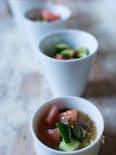 もずく酢で簡単マリネ風サラダ【既製品利用】