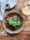 きのこと牛肉の豆鼓(トウチ)炒め