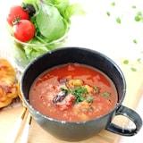 【5分で完成】煮込まず簡単♡たっぷりお豆のトマトスープ