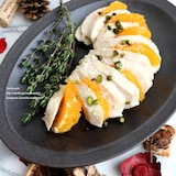 オレンジと塩麹の巻かない鶏ハム