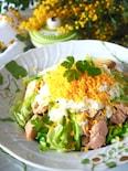 【レンチン無限キャベツ】シャキッとキャベツのミモザサラダ