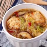 白菜とごろごろ肉団子の贅沢うま辛スープ