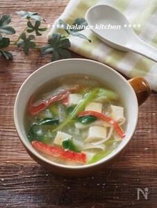 時短・簡単。大根と豆腐の生姜とろみスープ