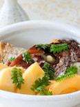 ストウブ鍋で筍と鯛のかぶと煮
