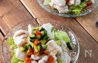 『鶏しゃぶわさびポン酢サラダ』