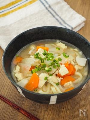 【精進料理】野菜の旨味がつまったほっとする味、けんちんうどん