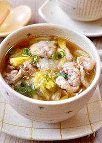 『また作って!が聞ける♡『生姜薫る豚こまと白菜のうま味スープ』』