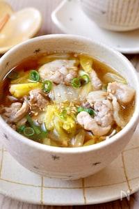 また作って!が聞ける♡『生姜薫る豚こまと白菜のうま味スープ』