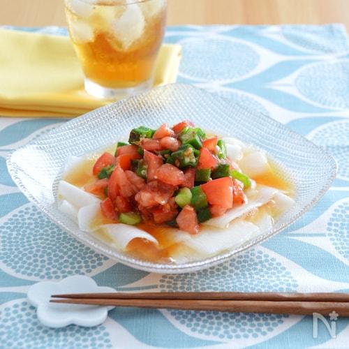 夏のねばねばサラダ。さっぱりとした和風のひらひらサラダ!