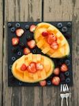 メロンといちごとブルーベリーのフルーツプレート