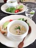 れんこんの豆乳みそスープ
