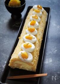 『栗金団で作る♪モンブランロールケーキ』