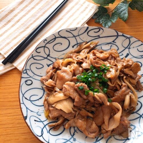 美味しい節約レシピ♡豚こまと舞茸の甘辛炒め