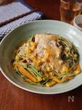 豆苗の温しゃぶサラダ味噌マヨソース