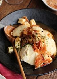 『10分で作れる「おかかと桜えびのチーズ豆腐」』