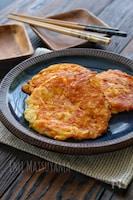 *長芋とカニカマとチーズの卵お焼き*