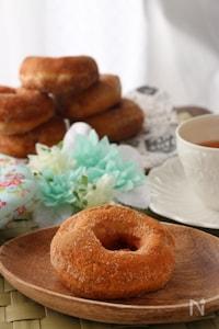 ふんわりもっちり♡こども喜ぶきな粉ドーナッツ【HB使用】