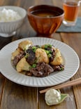 やみつき!カリフラワーと牛肉のオイマヨ炒め。簡単おかず♪