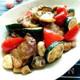 豚バラ肉とズッキーニのポン酢炒め 柚子胡椒風味