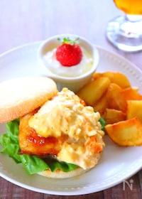 『【おうちカフェ】照り焼きチキンサンドイッチの作り方レシピ』