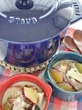 サツマイモとエリンギの豆乳シチュー