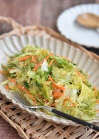 『レタスとかつお節の塩だれサラダ【作り置き】』