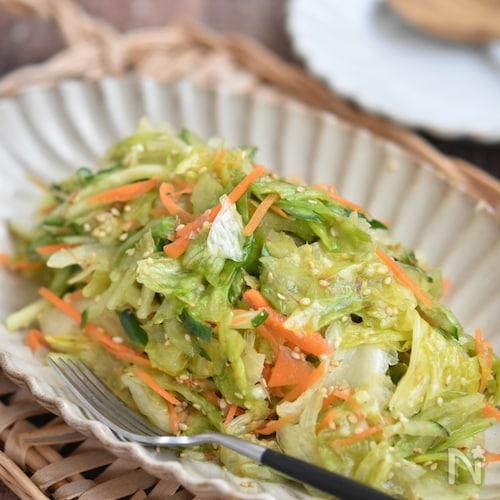 レタスとかつお節の塩だれサラダ【作り置き】