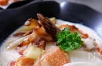 【温まる満足スープ】豆乳の具沢山はるさめスープ♪