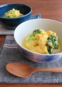 『ヘルシー和総菜◎ブロッコリーの卵とじ豆腐』