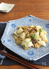 『旨味たっぷり◎食欲そそる和総菜☆いかとエリンギのねぎ塩炒め』