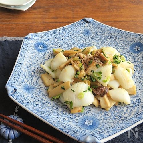 旨味たっぷり◎食欲そそる和総菜☆いかとエリンギのねぎ塩炒め