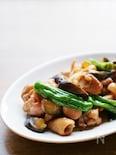鶏肉と夏野菜の生姜醤油炒め