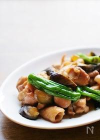 『鶏肉と夏野菜の生姜醤油炒め』
