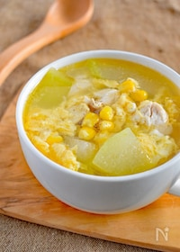 『冬瓜と鶏のたまごスープ』