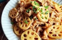 【豚肉とれんこんの甘酢炒め】おすすめ旬レシピ