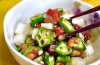 ご飯にかけても…♡【おくら納豆の梅こんぶ和え】