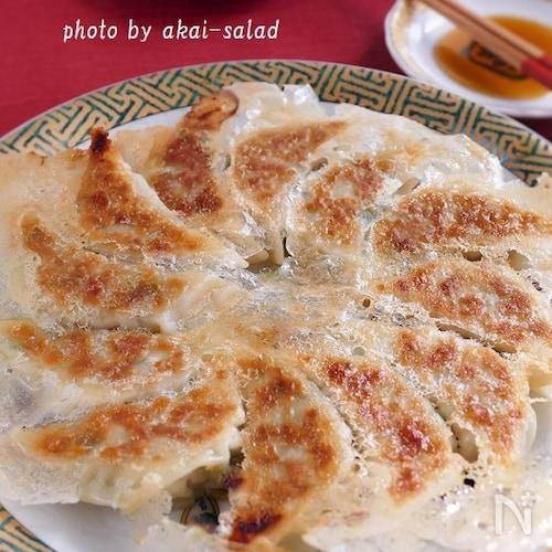 パリッと羽根つき! 味噌が決め手の白菜餃子
