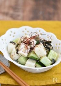 『きゅうりと長芋の韓国風サラダ【作り置き】』
