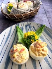 材料3つで風味豊かなサラダステック(カニ風味かまと卵のサラダ