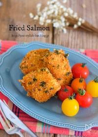 『お弁当に最適♪『鮭のパセリチーズフライ』』