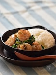 【ラクうま】海老と青菜のタイ風炒め丼