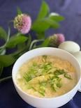 ホワイトアスパラと豆腐のかき玉スープ