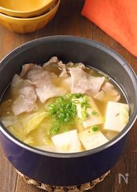 『パパッとプチ鍋♪白菜と豚バラのうま塩鍋』