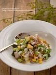 ポークと大麦のチョップドサラダ