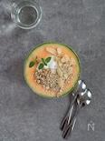 ヨーグルトとココナッツのメロンボウル