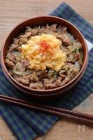 【15分弁当】レンジ調理で♡ふわふわ卵の豚丼弁当