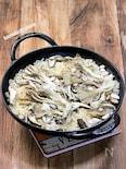 ストウブ鍋(ウオック)で舞茸の炊き込みご飯